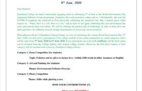 Celebration of World Environment Day 2020